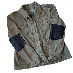 Levi's Utility Military Army Jacket Patch Elbows